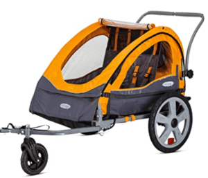 Sierra-Double-Seat-Foldable-Tow-Behind-Bike-Trailers