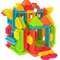 Bristle Shape 3D Building Blocks Tiles Construction Toy Set