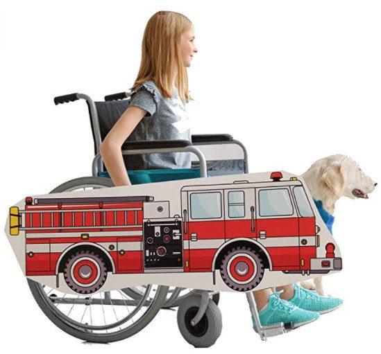 Fire Truck Wheelchair Costume