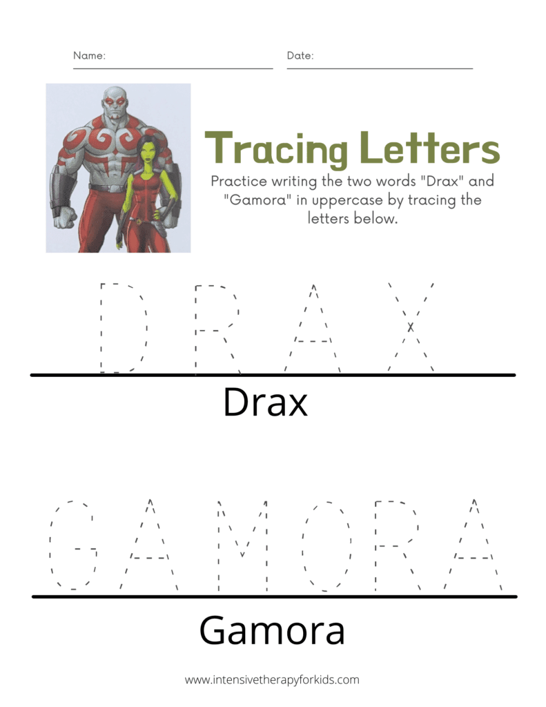 Drax-and-Gamora-Trace-the-Letters