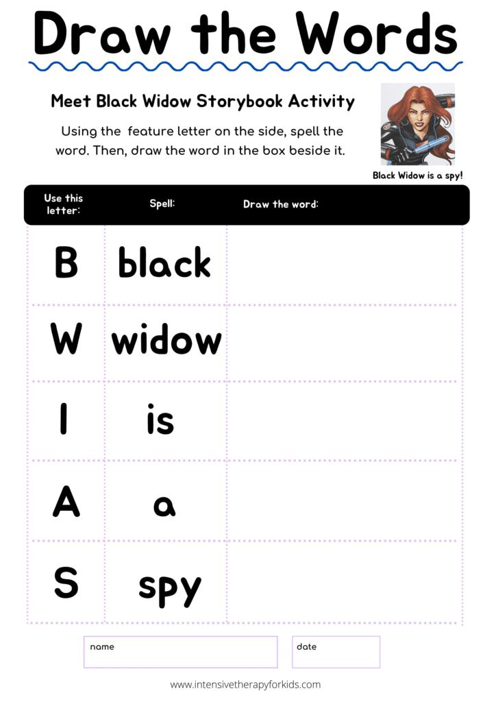 Marvel-Avengers-Black-Widow-storybook-activity
