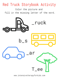 Red-Truck-Storybook-Activity