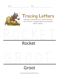 Rocket-and-Groot-Tracing-Letters-Activity