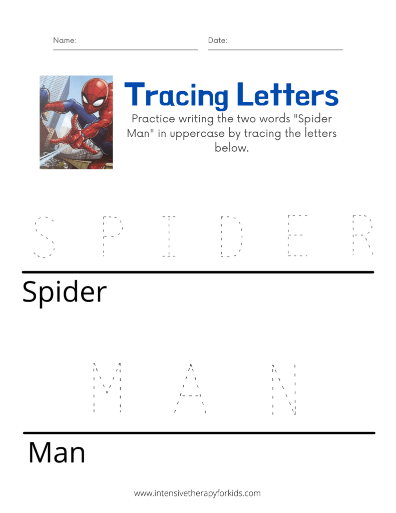 Spider-Man-Tracing-Letters-Activity