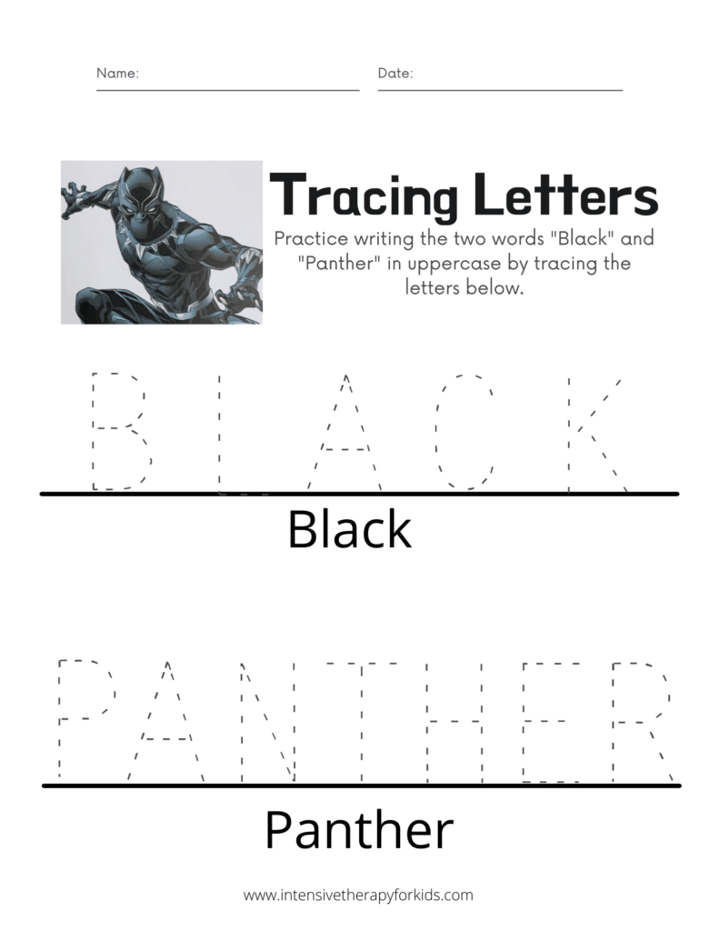 Black-Panther-Tracing-Letters-Activity