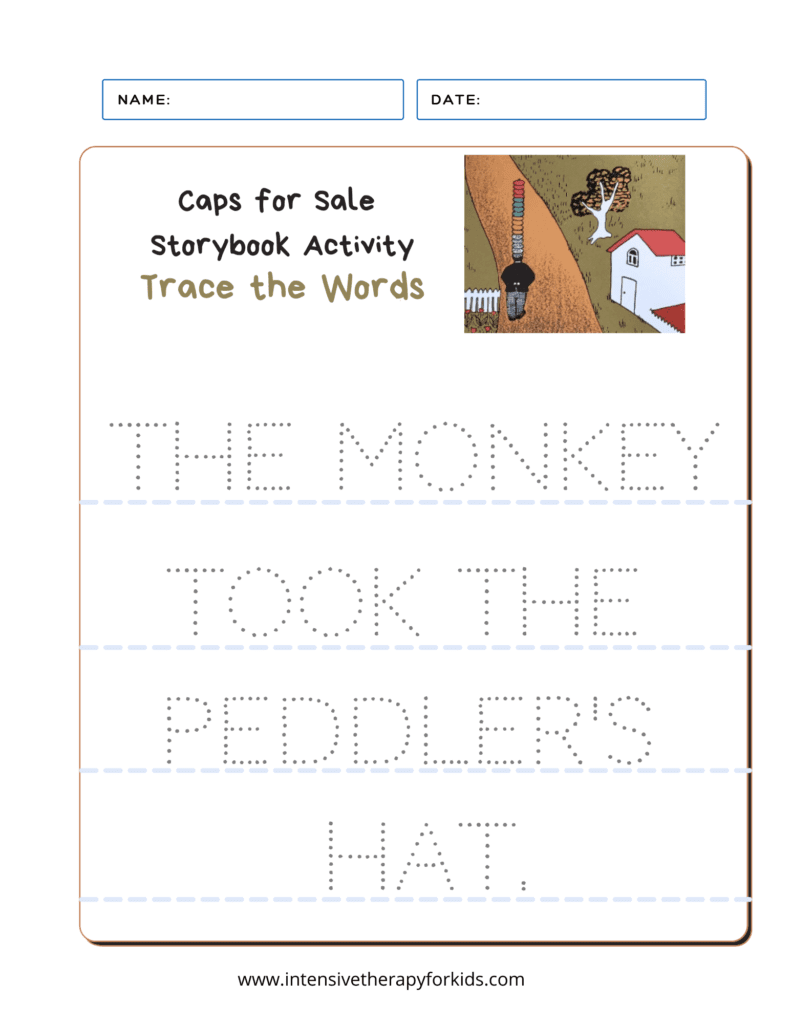 Caps-for-Sale-Storybook-Activity-Trace-the-Words