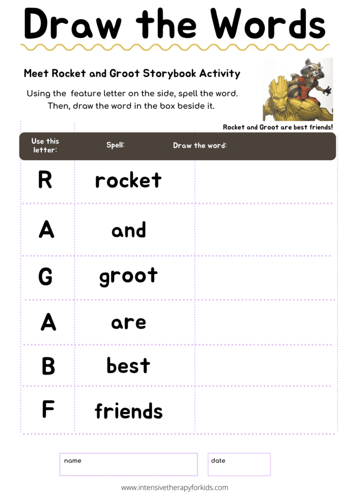 Rocket-and-Groot-Storybook-Activity