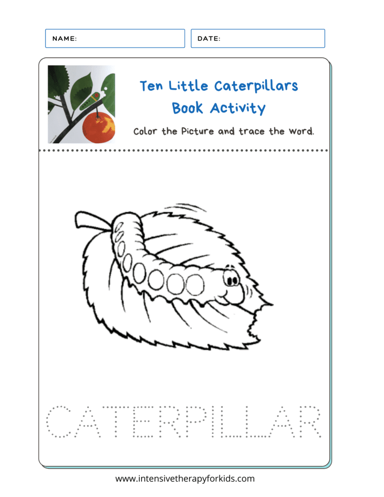 Ten Little Caterpillars Activity Pdf