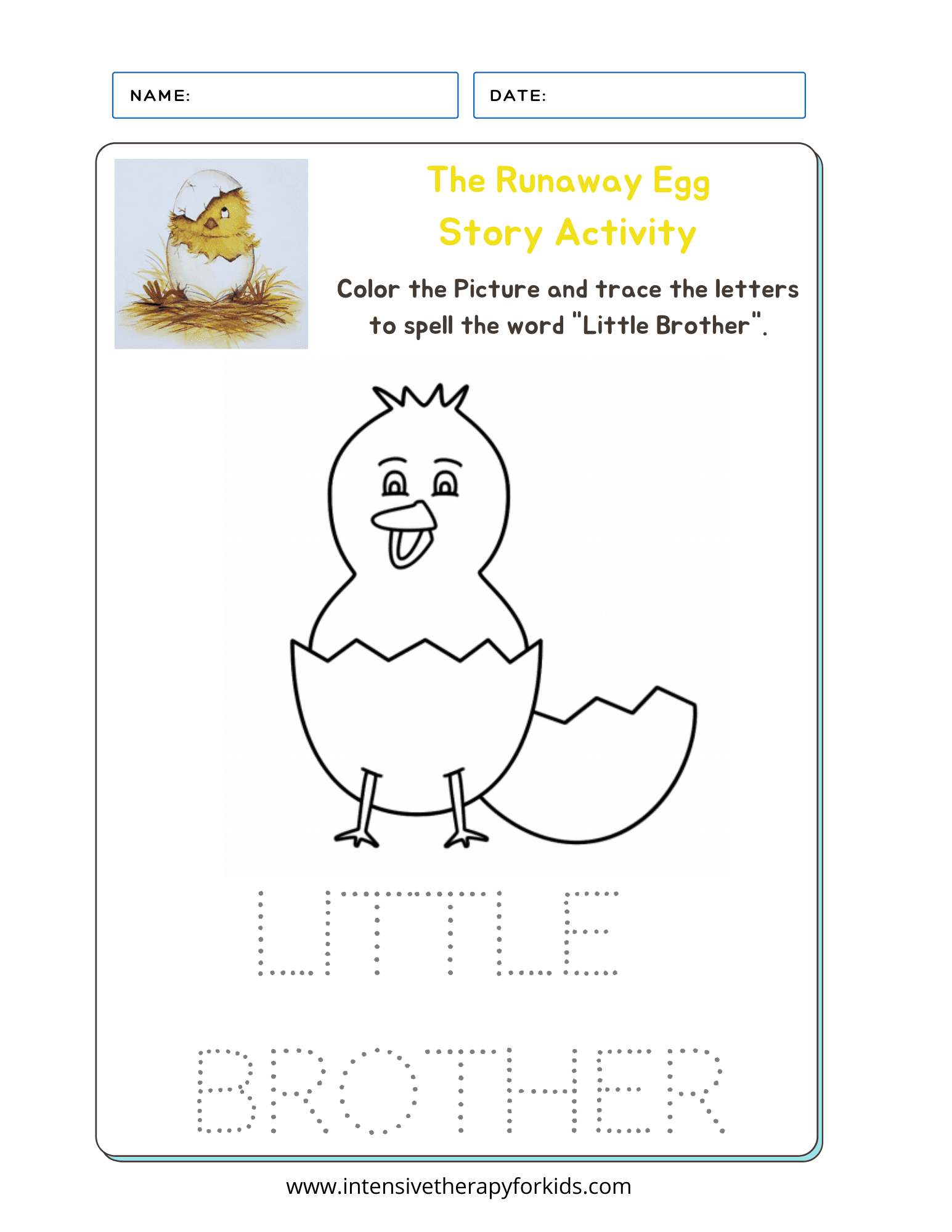 The-Runaway-Egg-Story-Book-Activity