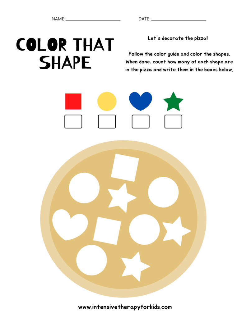 Color-that-Shape-Activity